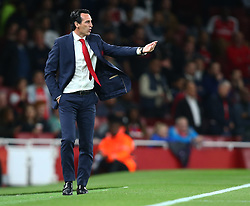 September 20, 2018 - London, England, United Kingdom - Arsenal manager Unai Emery .during UAFA Europa League Group E between Arsenal and FC Vorskla Poltava at Emirates stadium , London, England on 20 Sept 2018. (Credit Image: © Action Foto Sport/NurPhoto/ZUMA Press)
