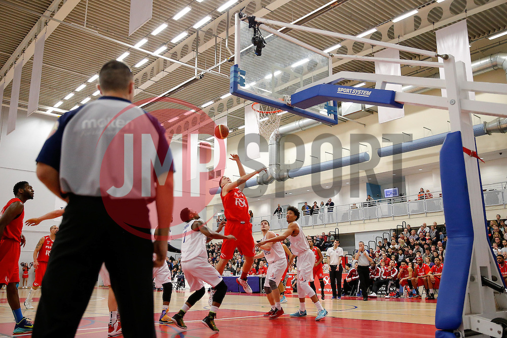 Tamas Okros of Bristol Flyers in action - Photo mandatory by-line: Rogan Thomson/JMP - 07966 386802 - 13/02/2015 - SPORT - BASKETBALL - Bristol, England - SGS Wise Arena - Bristol Flyers v Surrey United - BBL Championship.