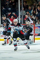 KELOWNA, BC - JANUARY 4:  Matthew Wedman #20 of the Kelowna Rockets celebrates a goal against the Vancouver Giants at Prospera Place on January 4, 2020 in Kelowna, Canada. Wedman was selected in the 2019 NHL entry draft by the Florida Panthers. (Photo by Marissa Baecker/Shoot the Breeze)
