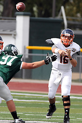 28 September 2013:  Michael Atwell during an NCAA division 3 football game between the Hope College Flying Dutchmen and the Illinois Wesleyan Titans in Tucci Stadium on Wilder Field, Bloomington IL
