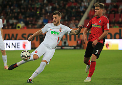 30.09.2018, 1.BL, 1. Bundesliga, FC Augsburg vs SC Freiburg, WWK Arena Augsburg, Fussball, Sport , im Bild:...Jeffrey Gouweleeuw (FC Augsburg) vs Florian Niederlechner (SC Freiburg)..DFL REGULATIONS PROHIBIT ANY USE OF PHOTOGRAPHS AS IMAGE SEQUENCES AND / OR QUASI VIDEO...Copyright: Philippe Ruiz..Tel: 089 745 82 22.Handy: 0177 29 39 408.e-Mail: philippe_ruiz@gmx.de. (Credit Image: © Philippe Ruiz/Xinhua via ZUMA Wire)