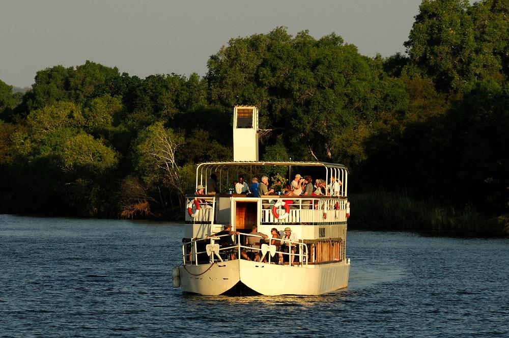 River Boat on Zambesi River, Livingstone, Southern Province, Zambia