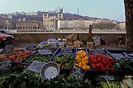 France. Lyon . St Antoine quays market