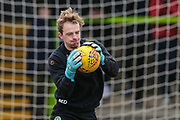Forest Green Rovers goalkeeper Lewis Thomas(24) during the EFL Sky Bet League 2 match between Forest Green Rovers and Yeovil Town at the New Lawn, Forest Green, United Kingdom on 16 February 2019.