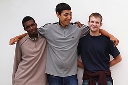 Multiracial group of youths,