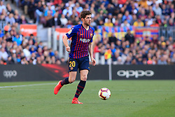 March 30, 2019 - Barcelona, BARCELONA, Spain - 20 Sergi Roberto of FC Barcelona during the ''Derby'' of La Liga match between FC Barcelona and RCD Espanyol in Camp Nou Stadium in Barcelona 30 of March of 2019, Spain. (Credit Image: © AFP7 via ZUMA Wire)