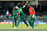 Shaheen Afridi of Pakistan bowling during the ICC Cricket World Cup 2019 match between Pakistan and Bangladesh at Lord's Cricket Ground, St John's Wood, United Kingdom on 5 July 2019.