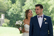 bride and groom first look by Tallmadge wedding photographer, Akron wedding photographer Mara Robinson Photography