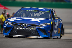 July 13, 2018 - Sparta, Kentucky, United States of America - Martin Truex, Jr (78) practices for the Quaker State 400 at Kentucky Speedway in Sparta, Kentucky. (Credit Image: © Stephen A. Arce/ASP via ZUMA Wire)