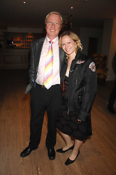 TV producer MIKE HOLLINGSWORTH former husband of Anne Diamond and MISS KIMBERLEY STEWART-MOLE at a party to celebrate the launch of a new fashion label 'Oli' at the Haymarket Hotel, 1 Suffolk Place, London on 4th July 2007.<br /><br />NON EXCLUSIVE - WORLD RIGHTS