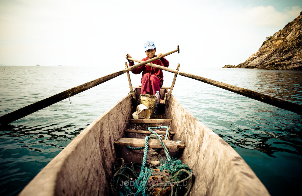 These incredible sea faring people, called the Moken, or Sea Gypsies in the Myek archipelago in Myanmar live in boats like these for nearly 6 months every year.  They have survived this way since before 2000 BC.  Free divers plunge on a breath hold to 200 feet to hunt for fish and shellfish.