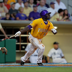05 June 2009: Jared Mitchell (3) of LSU in action during a 12-9 victory by the LSU Tigers over the Rice Owls in game one of the NCAA baseball College World Series, Super Regional played at Alex Box Stadium in Baton Rouge, Louisiana.