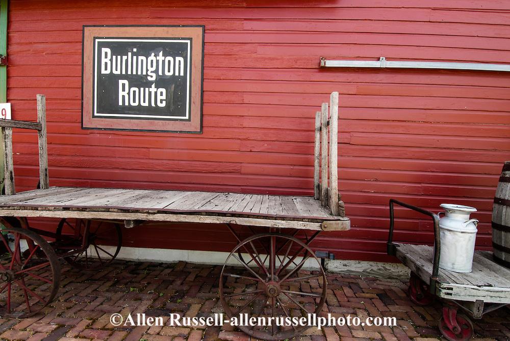 Big Horn County Historical Museum, Hardin, Montana, historic Lodge Grass Depot.
