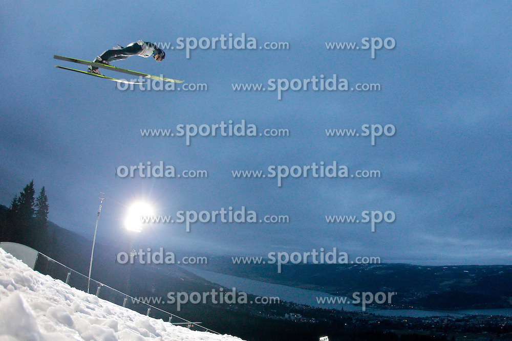 25.11.2012, Lysgards Schanze, Lillehammer, NOR, FIS Weltcup, Ski Sprung, Herren, im Bild Schlierenzauer Gregor (AUT) during the mens competition of FIS Ski Jumping Worldcup at the Lysgardsbakkene Ski Jumping Arena, Lillehammer, Norway on 2012/11/25. EXPA Pictures © 2012, EXPA/ Federico Modica
