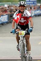 Sykkel , 20 August 2005 , Birkebeinerrittet ,<br /> UCI Mountain Bike Marathon , World Championships ,<br /> Lillehammer - Norway ,<br /> <br /> Petra Henzi, CHE ble nr.tre