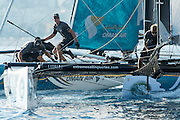 Emirates Team New Zealand, Day one of the Extreme Sailing Series at Nice. 2/10/2014