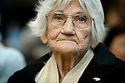 20081210/ Javier Calvelo - adhocFOTOS/ URUGUAY/ MONTEVIDEO/ Dia Internacional de los Derechos Humanos/ Memorial de los desaparecidos. Parque Vaz Ferreira. Acto organizado por Madres y Familiares de desaparecidos. En el d&iacute;a internacional de los Derechos Humanos la organizaci&oacute;n Madres y Familiares de Uruguayos/as Detenidos Desaparecidos realiz&oacute; un acto en el memorial de los desaparecidos. <br /> En la foto: Luisa Cuesta en el Memorial de los desaparecidos en el Parque Vaz Ferreira. Foto: Javier Calvelo / adhocFOTOS