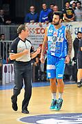DESCRIZIONE : Cantu' Lega A 2014-2015 Acqua Vitasnella Cantu' Banco di Sardegna Sassari<br /> GIOCATORE : Brian Sacchetti Dino Seghetti Arbitro<br /> CATEGORIA : Arbitro Delusione<br /> SQUADRA : Banco di Sardegna Sassari Arbitro<br /> EVENTO : Campionato Lega A 2014-2015<br /> GARA : Acqua Vitasnella Cantu' Banco di Sardegna Sassari<br /> DATA : 09/11/2014<br /> SPORT : Pallacanestro<br /> AUTORE : Agenzia Ciamillo-Castoria/S.Ceretti<br /> GALLERIA : Lega Basket A 2014-2015<br /> FOTONOTIZIA : Cantu' Lega A 2014-2015 Acqua Vitasnella Cantu' Banco di Sardegna Sassari<br /> PREDEFINITA :
