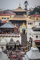 Stupas & shrines line the Bagmati River of Pashupatinath Temple  in Kathmandu, which is one of the most significant temples of Shiva  in the world.