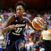 UNCASVILLE, CONNECTICUT- JUNE 3:   Bria Holmes #32 of the Atlanta Dream in action during the Atlanta Dream Vs Connecticut Sun, WNBA regular season game at Mohegan Sun Arena on June 3, 2016 in Uncasville, Connecticut. (Photo by Tim Clayton/Corbis via Getty Images)