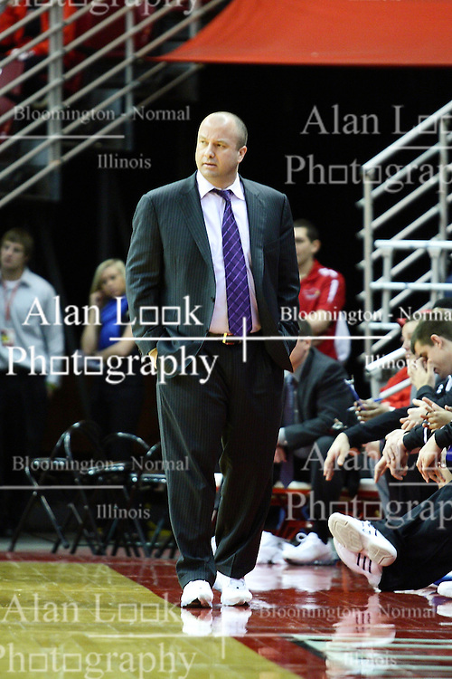 30 January 2011: Coach Mark Phelps during an NCAA basketball game between the Drake Bulldogs and the Illinois State Redbirds. The Redbirds win in OT 77-75 after a last three point shot by Drake was ruled too late at Redbird Arena in Normal Illinois.