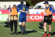Sione Misiloi of Otago leaves the field of play during the Ranfurly Shield match between Otago and North Otago, held at Whitestone Contracting Stadium, Oamaru, New Zealand, 26 July 2019. Credit: Joe Allison / www.Photosport.nz