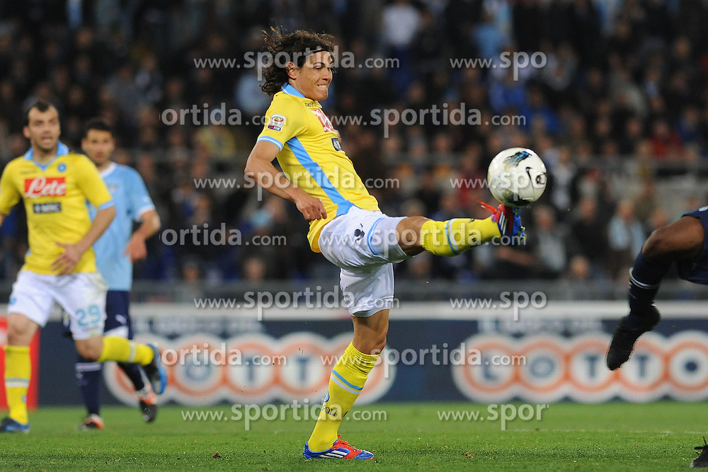 07.04.2012, Olympiastadion, Rom, ITA, Serie A, Lazio Rom vs SSC Neapel, 31. Spieltag, im Bild Edison Cavani Napoli // during the football match of Italian 'Serie A' league, 31th round, between Lazio Rom and SSC Neapel at Olympic Stadium, Rome, Italy on 2012/04/07. EXPA Pictures © 2012, PhotoCredit: EXPA/ Insidefoto/ Antonietta Baldassarre..***** ATTENTION - for AUT, SLO, CRO, SRB, SUI and SWE only *****