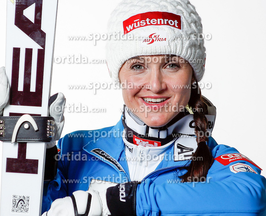 20.10.2012, Messehalle, Innsbruck, AUT, OeSV, Ski Alpin, Fototermin, im Bild Elisabeth Goergl (OeSV, Skirennlaeuferin) // during the official Portrait and Teamshooting of the Austrian Ski Federation (OeSV) at the Messehalle, Innsbruck, Austria on 2012/10/20. EXPA Pictures © 2012, PhotoCredit: EXPA/ OeSV/ Erich Spiess