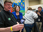 19 JANUARY 2020 - DES MOINES, IOWA: Sen. Klobuchar brought her presidential campaign to Urban Dreams, a community empowerment center in central Des Moines. Iowa hosts the first event of the presidential selection process in February. The Iowa Caucuses are Feb. 3, 2020.          PHOTO BY JACK KURTZ