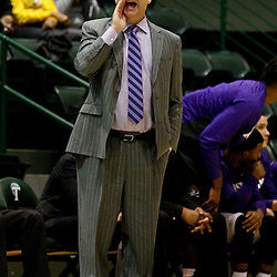 Feb 24, 2016; New Orleans, LA, USA; East Carolina Pirates head coach Jeff Lebo against the Tulane Green Wave during the first half of a game at the Devlin Fieldhouse. Mandatory Credit: Derick E. Hingle-USA TODAY Sports