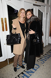 Left to right, MARYAM D'ABO and JEANNE MARINE  at an In-House screening of 'Sweet Smell of Success' hosted by Clive Owen presented by Tod's in association with Amend held at The Electric Cinema, 191 Portobello Road, London W11 on 29th November 2010.