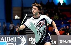 Alex Lane of Bristol Jets plays a shot - Photo mandatory by-line: Robbie Stephenson/JMP - 07/11/2016 - BADMINTON - University of Derby - Derby, England - Team Derby v Bristol Jets - AJ Bell National Badminton League