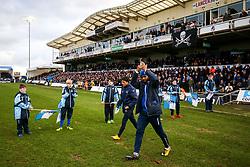 Ellis Harrison of Bristol Rovers walks past the flagbearers - Rogan/JMP - 01/01/2018 - FOOTBALL - Memorial Stadium - Bristol, England - Bristol Rovers v Portsmouth - EFL Sky Bet League One.