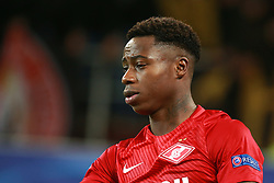 October 18, 2017 - Moscow, Russia - October 17, 2017. Russia, Moscow, Otkritie Arena Stadium. Spartak's player Quincy Promes in the 2017/18 UEFA Champions League's group stage match between Spartak (Moscow, Russia) and Sevilla FC  (Credit Image: © Russian Look via ZUMA Wire)