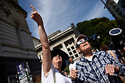Nicolas Celaya/ URUGUAY/ MONTEVIDEO/ UDELAR<br /> En la foto, Vista de un eclipse anular frente a la Universidad de la Republica, en Montevideo. Nicol&aacute;s Celaya /adhocFOTOS<br /> 2017 - 26 de febrero - domingo