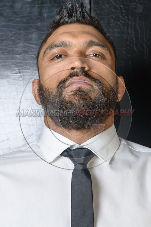 """LONDON, ENGLAND, APRIL 18, 2016: Liam McGeary poses for a portrait following the event announcement press conference for """"Bellator 158: Slice vs. Thompson"""" inside the Four Seasons Hotel in Park Lane, London (© Martin McNeil)"""