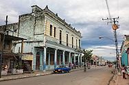 Street in Cumanayagua, Cienfuegos, Cuba.