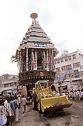 The magnificent and colourful Temple Car Festival of Sri Varadaraja Swamy Temple, Kancheepuram,Tamilnadu.