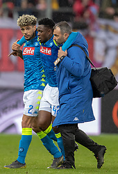 14.03.2019, Red Bull Arena, Salzburg, AUT, UEFA EL, FC Red Bull Salzburg vs SSC Napoli, Achtelfinale, Rückspiel, im Bild v.l. Kevin Malcuit (SSC Napoli), Amadou Diawara (SSC Napoli) // during the UEFA Europa League round of 16, 2nd leg match between FC Red Bull Salzburg and SSC Napoli at the Red Bull Arena in Salzburg, Austria on 2019/03/14. EXPA Pictures © 2019, PhotoCredit: EXPA/ Johann Groder