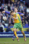 Leicester - Saturday, February 16th, 2008: Matt Oakley  (R) of Leicester City and Ched Evans (L) of Norwich City during the Coca Cola Champrionship match at the Walkers Stadium, Leicester. (Pic by Mark Chapman/Focus Images)