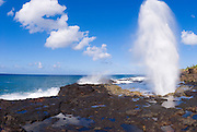 Spouting Horn, Po'ipu area, Island of Kauai, Hawaii