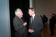 SIR NICHOLAS SEROTA; EDWARD BOOTH-CLIBBORN, Migrations private view, Tate Britain. London. 30 January 2012.