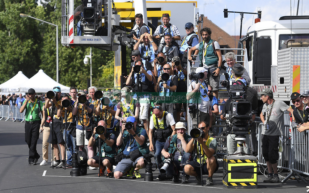 July 7, 2017 - France - Photographers on the finish line (Credit Image: © Panoramic via ZUMA Press)