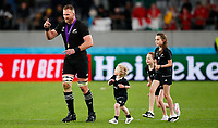 Rugby Union - 2019 Rugby World Cup - Bronze Final (Third Place Play-Off): Wales vs. France<br /> <br /> Kieran Read of New Zealand with family at Tokyo Stadium, Tokyo.<br /> <br /> COLORSPORT/LYNNE CAMERON