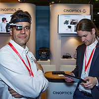 Nederland, Rotterdam, 16 mei 2017.<br /> Cinoptics uit maastricht presenteert de Smart-Eye <br /> Cinoptics uit Maastricht staat op de militaire beurs Itec in Ahoy Rotterdam.Het bedrijf heeft slimme kijker ontwikkeld die in een seconden vele tientallen gezichten kan herkennen.Ideaal voor politie rondom terreurdreiging, voetbalhooligans etc. Ze staan op stand 9 op de beurs.<br /> <br /> Foto: Jean-Pierre Jans<br /> <br /> The Netherlands, Rotterdam, May 16, 2017.<br /> Cinoptics from Maastricht presents the Smart-Eye. Cinoptics from Maastricht is on the military exhibition Itec in Ahoy Rotterdam. The company has developed a clever viewer that can recognize many dozens of faces in seconds. Primary for police around terror threat, soccer hooligans etc. They are on stand 9 at the fair.<br /> <br /> Photo: Jean-Pierre Jans