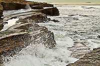 California coast near San Diego at high-tide.