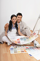 Couple Choosing Paint Color