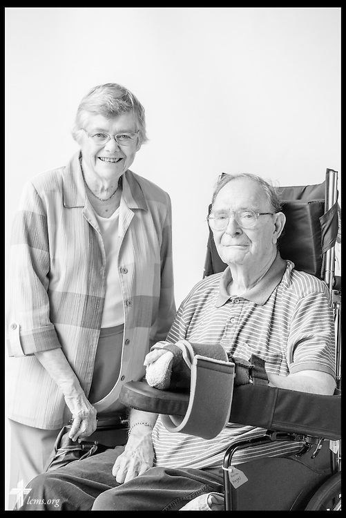 #eyesoflife portrait of the Rev. Dr. Norman Nagel and Betsy Nagel on Wednesday, July 6, 2016, at Laclede Groves in Webster Groves, Mo. LCMS Communications/Erik M. Lunsford