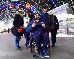 Les Coulisses, Behind the scenes, BOCHET_Marie, TABERLET_Yohann at PyeongChang2018 Winter Paralympic Games, South Korea.