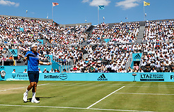 Feliciano Lopez reacts during day five of the Fever-Tree Championship at the Queen's Club, London.